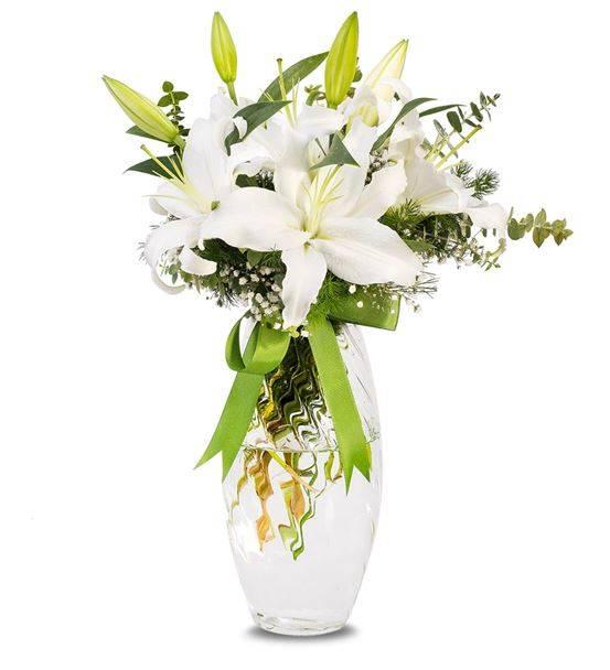 Özel Kokulu Beyaz Lilyum Aranjmanı